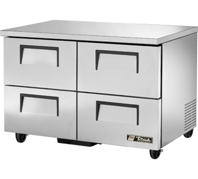 "True TUC-48F-D-4 48"" Undercounter Freezer - 4-Drawers, Aluminum/Stainless"
