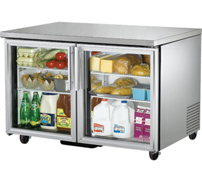 True TUC-48G 12-cu ft Undercounter Refrigerator w/ (2) Sections & (2) Doors, 115v