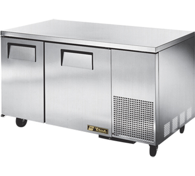"True TUC-60-32F 60"" Deep Undercounter Freezer - 2-Solid Doors, Aluminum/Stainless"