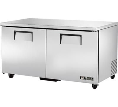 True TUC-60 15.5-cu ft Undercounter Refrigerator w/ (2) Sections & (2) Doors, 115v