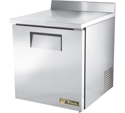 "True TWT-27-ADA 27"" Work Top Refrigerator - 1-Solid Door, Aluminum/Stainless, ADA"