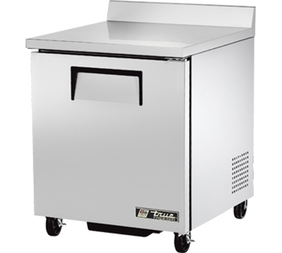 "True TWT-27F 27"" Work Top Freezer - 1-Solid Door, Aluminum/Stainless"