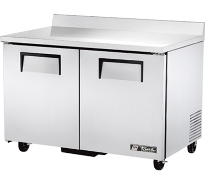 "True TWT-48F 48"" Work Top Freezer - 2-Solid Doors, Aluminum/Stainless"