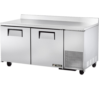 True TWT-67F 67.25-in Deep Work Top Freezer w/ 2-Solid Doors, Stainless Exterior