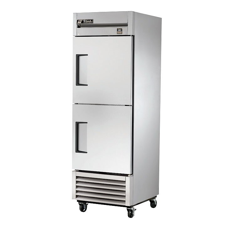 "True TS-23F-2 LH 27"" Reach-In Freezer - 2-Left Hinged Solid Half Doors, All Stainless"