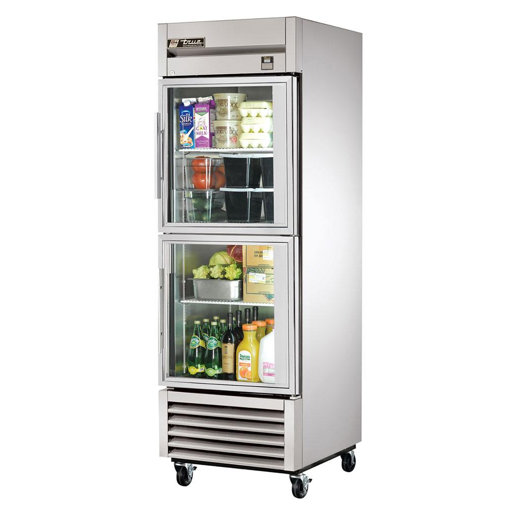 "True TS-23G-2 27"" One Section Reach-In Refrigerator, (2) Glass Door, 115v"