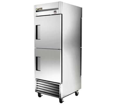 True TS-28-2-PT Refrig, Pass-Thru, 1 Section, Half SS Front/SS Rear Doors, 3 Shelves, 28 cu ft