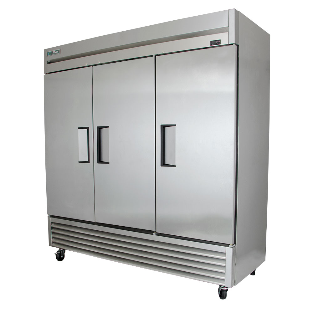 True TS-72 3-Section Reach In Refrigerator w/ Solid Doors 72-cu ft Restaurant Supply