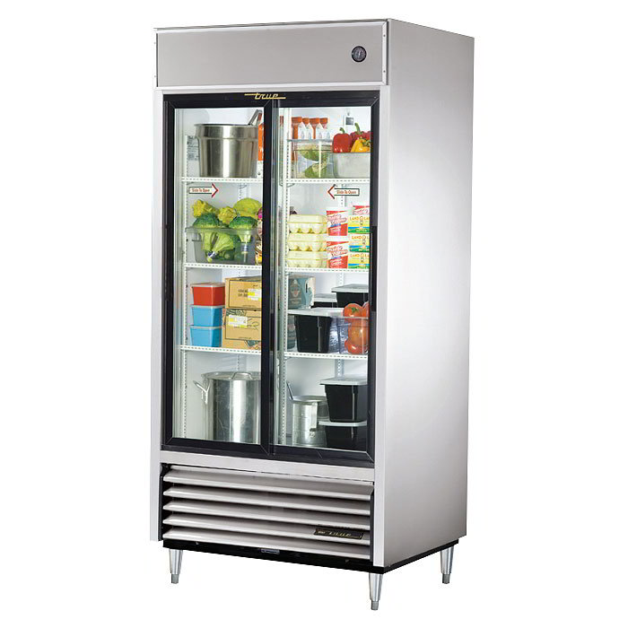 "True TSD-33G-LD 39.5"" Two Section Reach-In Refrigerator, (2)"