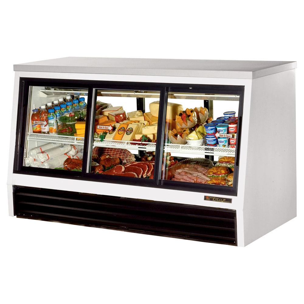 """True TSID-72-6-L 72.5"""" Self Service Refrigerated Deli Case w/ Straight Glass - (2) Level, 115v"""