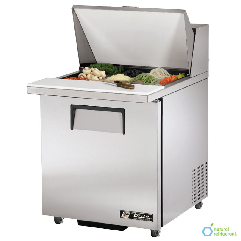 "True TSSU-27-12M-B LH 27"" Mega Top Sandwich Unit - Holds (9) 1/6-Pans, 1-Left Hinged Door"