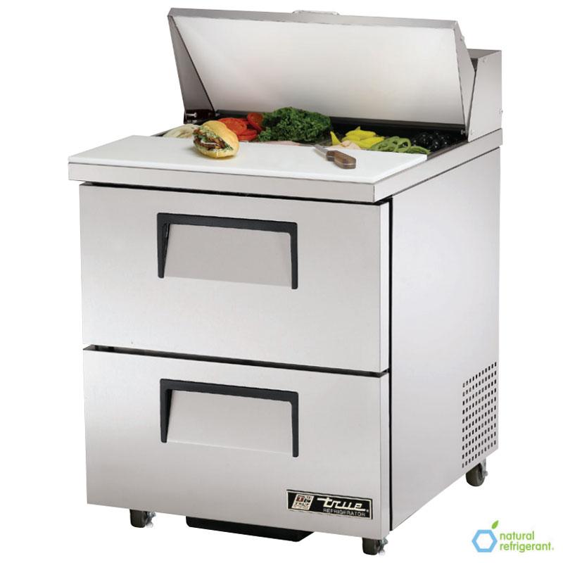 """True TSSU-27-8D-2-ADA 27.63"""" Sandwich/Salad Prep Table w/ Refrigerated Base, 115v"""