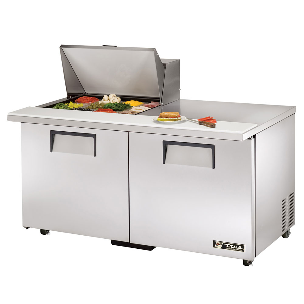 "True TSSU-60-12M-BADA 60.38"" Sandwich/Salad Prep Table w/ Refrigerated Base, 115v"