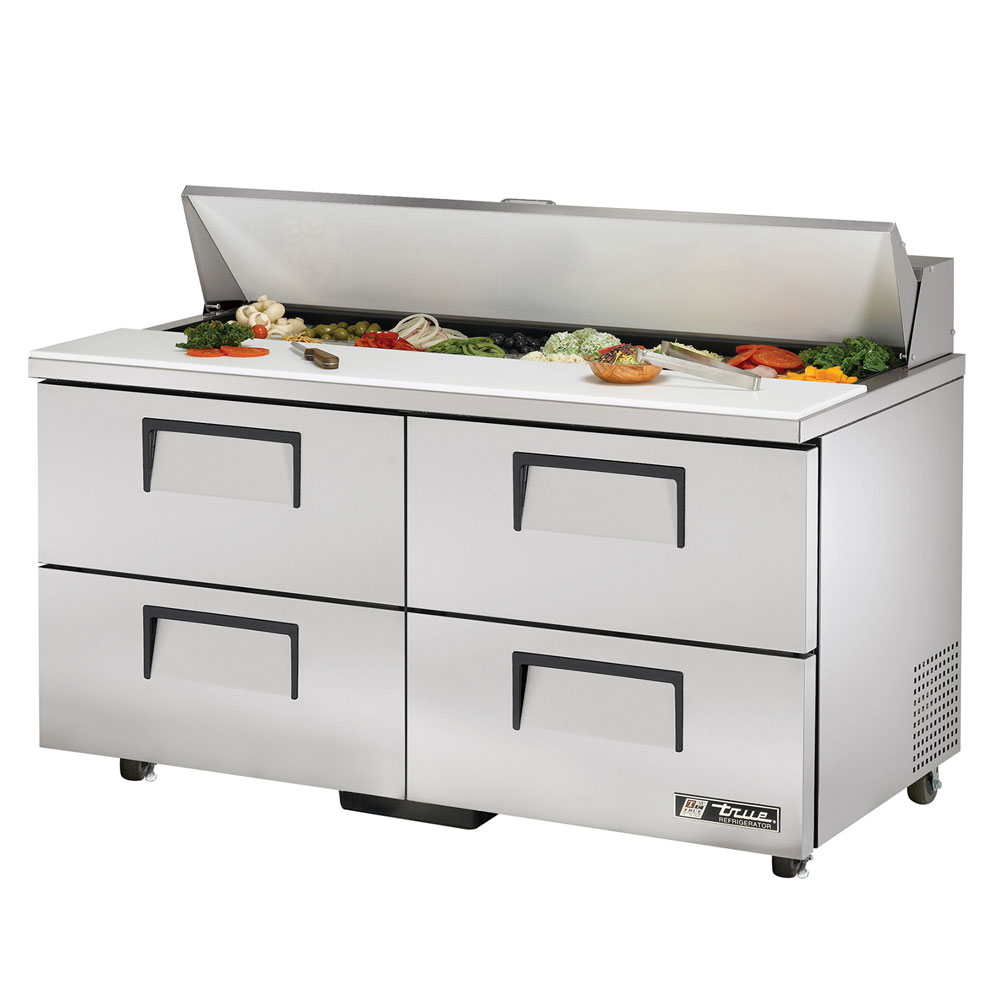 "True TSSU-60-16D-4ADA 60.38"" Sandwich/Salad Prep Table w/ Refrigerated Base, 115v"