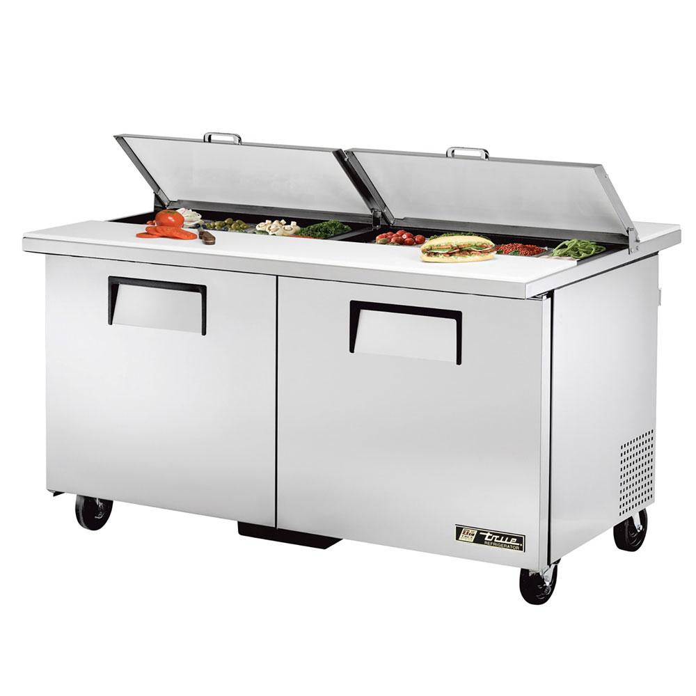 "True TSSU-60-16-DS-ST 60.38"" Sandwich/Salad Prep Table w/ Refrigerated Base, 115v"