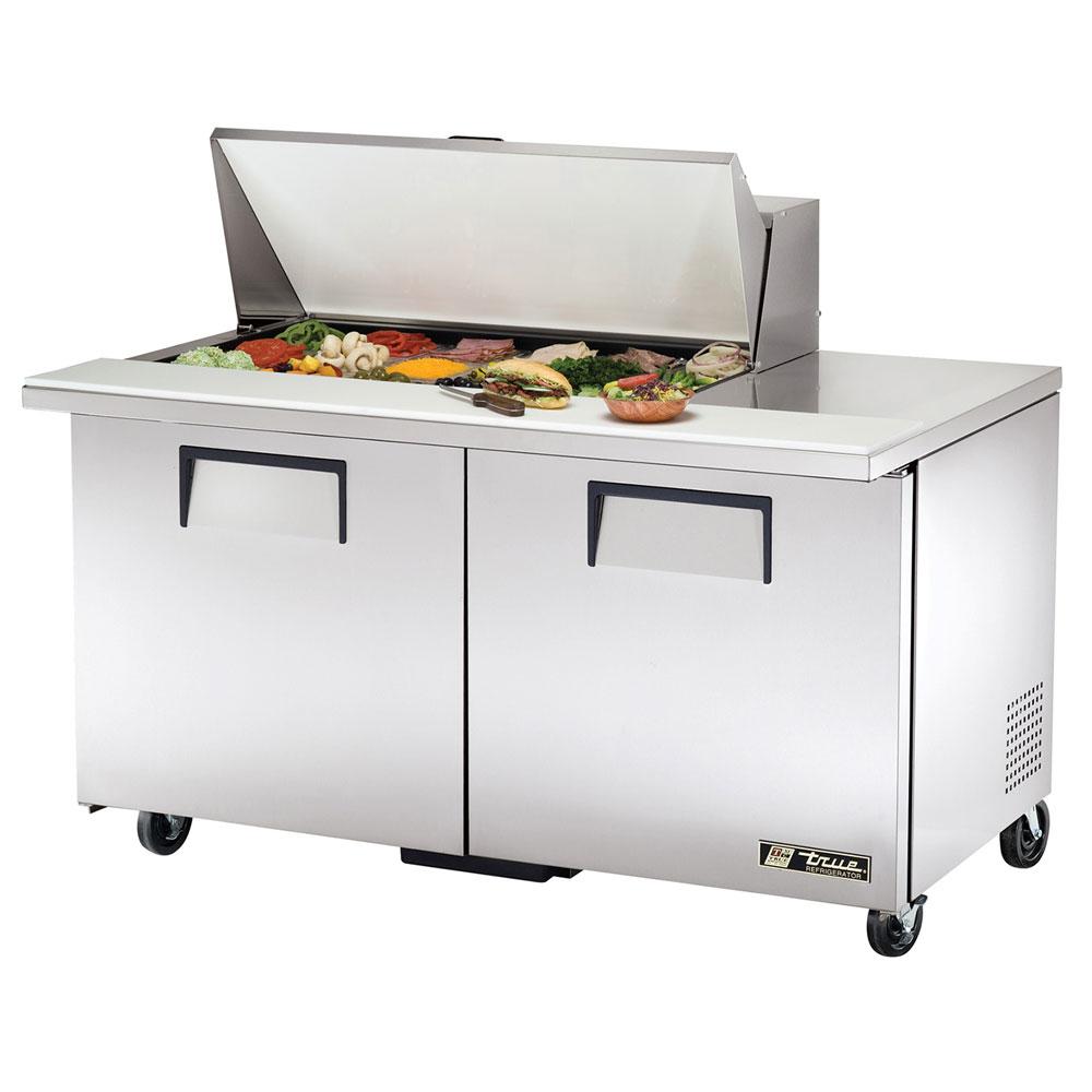 """True TSSU-60-18M-B 60.38"""" Sandwich/Salad Prep Table w/ Refrigerated Base, 115v"""
