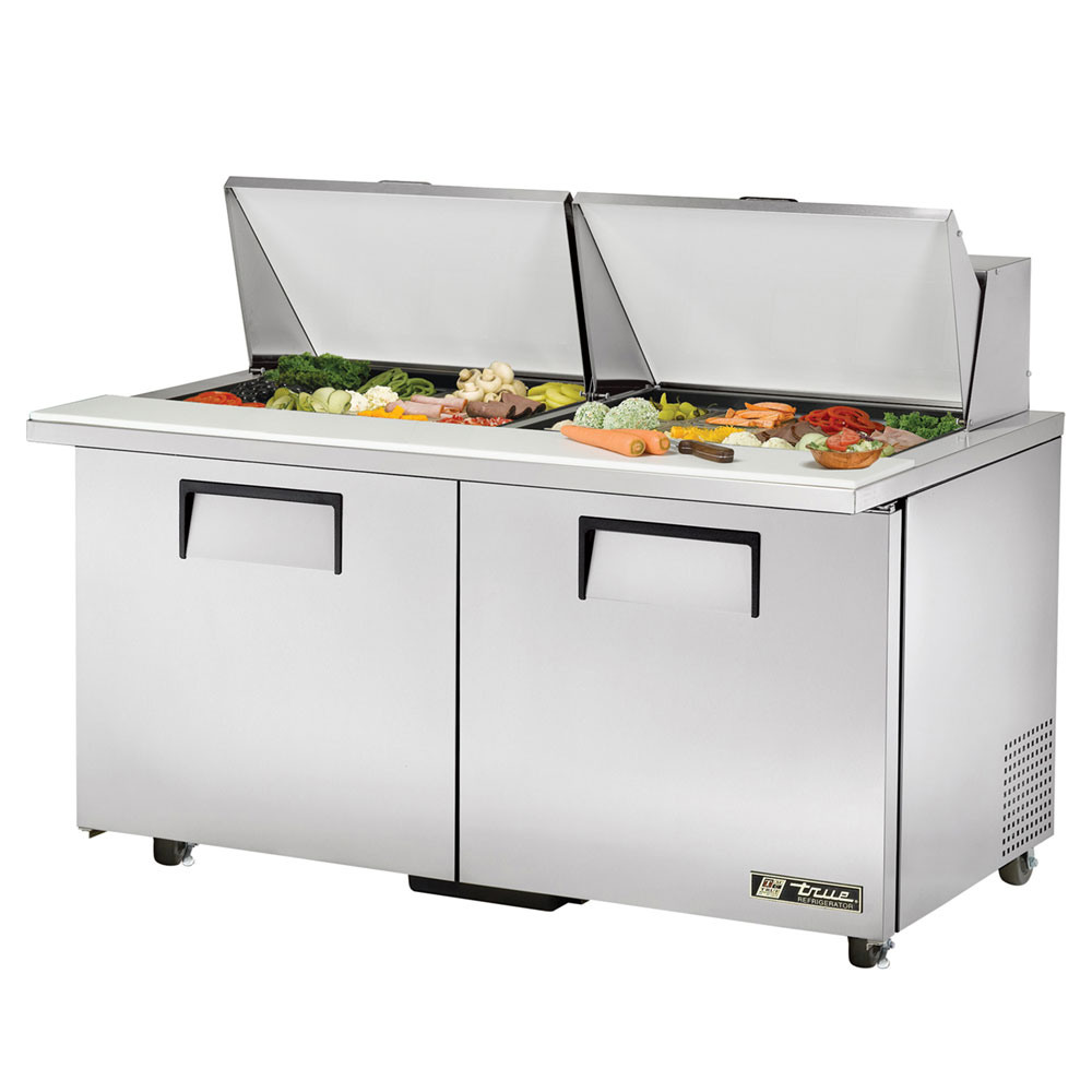 "True TSSU-6024MBSTADA 60.38"" Sandwich/Salad Prep Table w/ Refrigerated Ba"