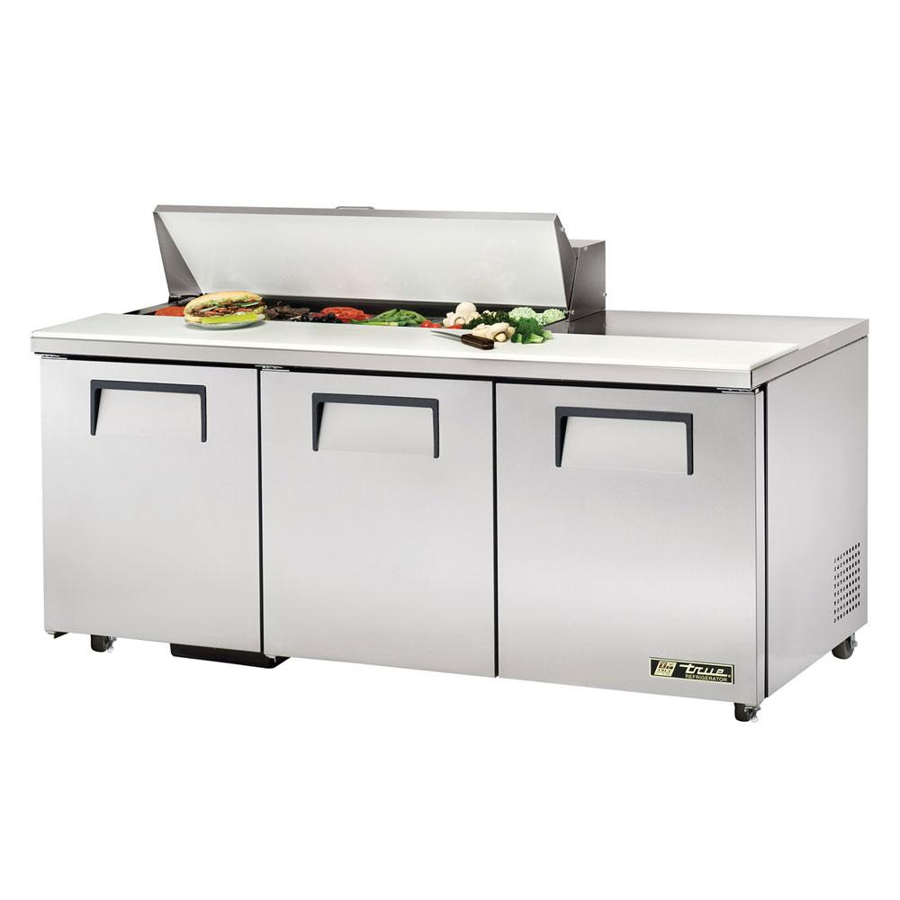 """True TSSU-72-12-ADA 72.38"""" Sandwich/Salad Prep Table w/ Refrigerated Base, 115v"""