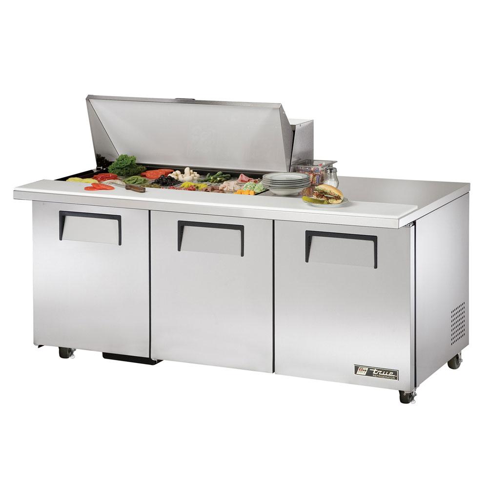 """True TSSU-72-18M-BADA 72.38"""" Sandwich/Salad Prep Table w/ Refrigerated Base,"""