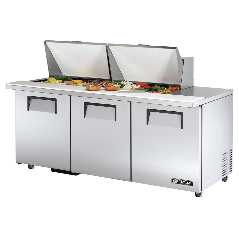 """True TSSU-7224MBSTADA 72.38"""" Sandwich/Salad Prep Table w/"""
