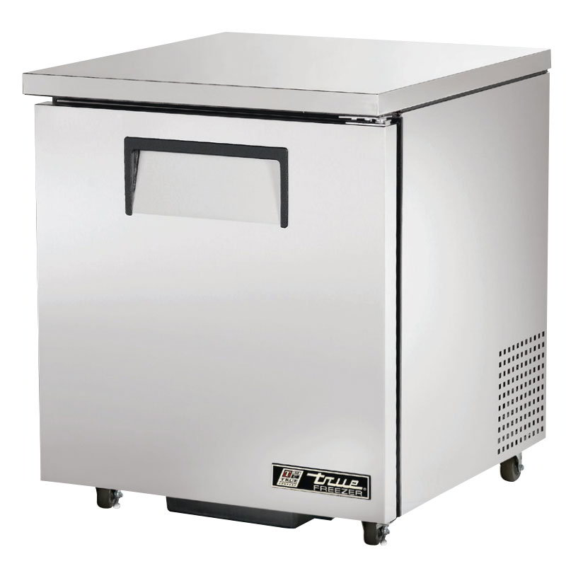 "True TUC-27F-LHADA 27"" Undercounter Freezer - 1-Left Hinged Solid Door, Aluminum/Stainless, ADA"