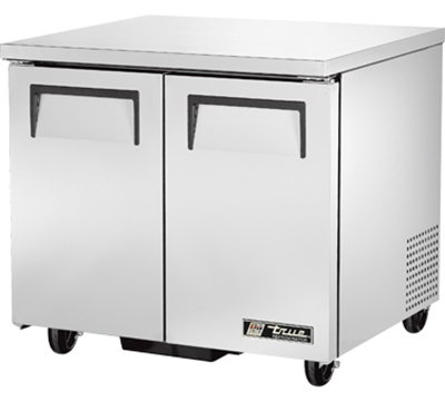 True TUC-36-LP 220 Front Breathing Undercounter Refrigerator w/ 4-Shelves & 2-Doors, 115V