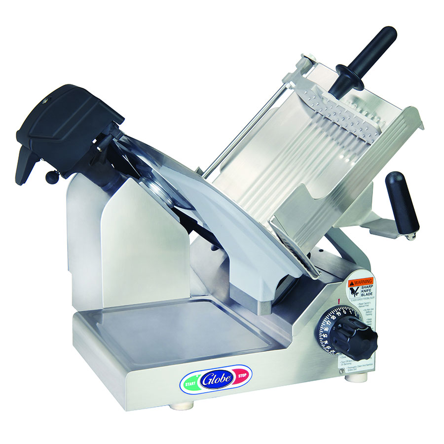 "Globe 3600N Premium Slicer - 13"" Alloy Knife Blade, Manual, Gear Driven System, Stainless Steel"