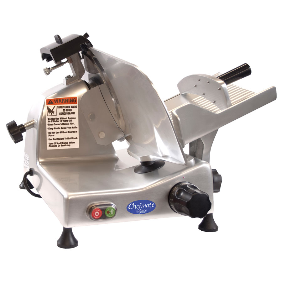 "Globe E250 120V Manual Food Slicer - 10"" Knife, 1/4 HP 115v"