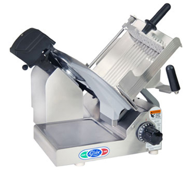 Globe 3600NF Frozen Meat Slicer w/ 13-in Serrated Knife Blade, Manual, Dishmachine Safe