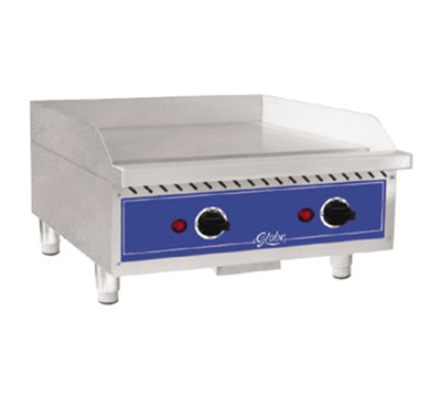 Globe GEG24 208240 24-in Countertop Griddle w/ Heavy Duty Stainless Plate, 208/240 V