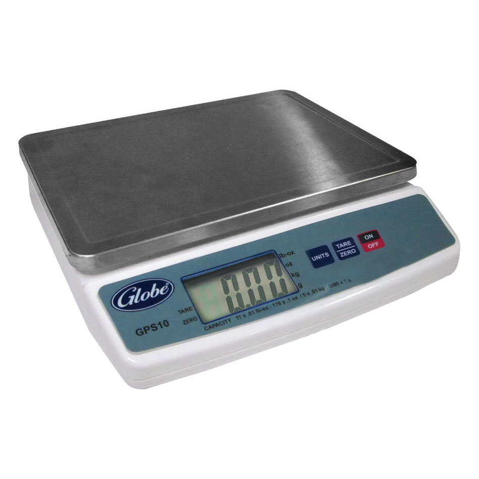 Globe GPS10 Portion Control Scale, Digital, 11 lb Capacity, Tare,  ABS Contruction