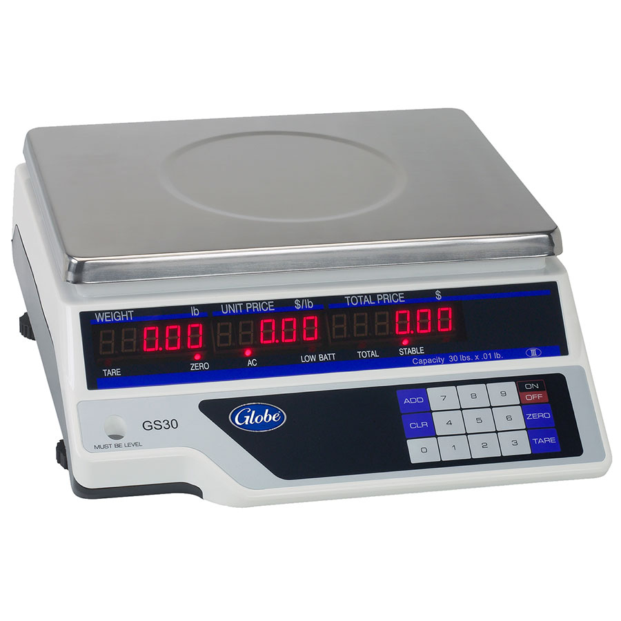 Globe GS30 Price Computing Scale w/ Tare, Ac