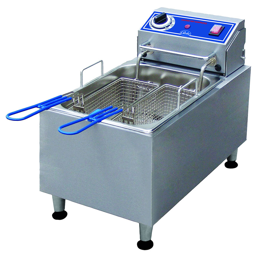 Globe PF10E Countertop Electric Fryer - (1) 10-lb Vat, 120v/1ph