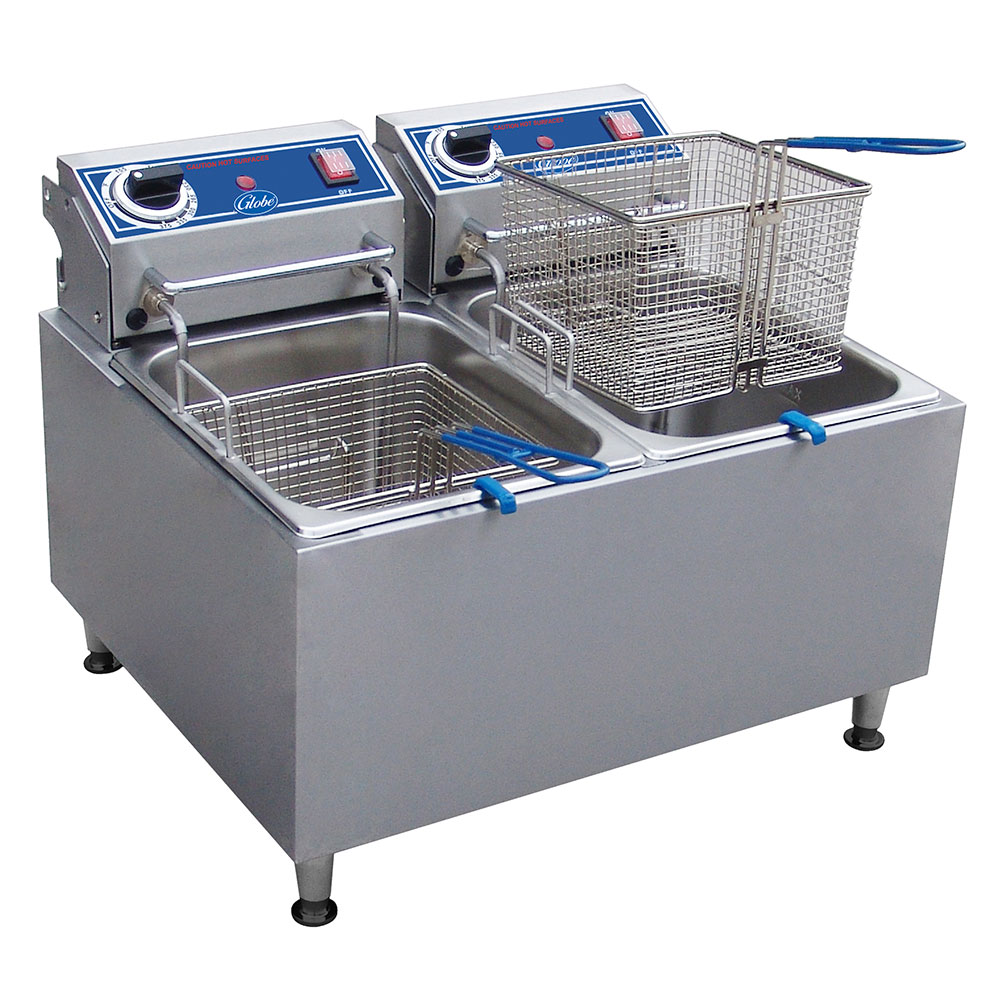 Globe PF32E Countertop Electric Fryer - (1) 32-lb Vat, 208v/1ph