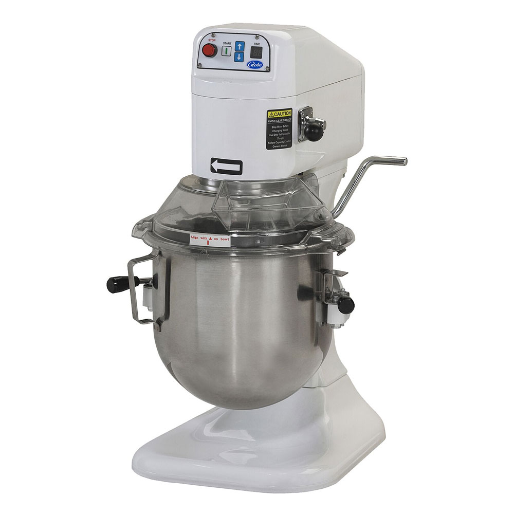 Globe SP8 8-Qt Mixer w/ Bowl, Dough Hook, Wire Whip, Flat Beater, Guard