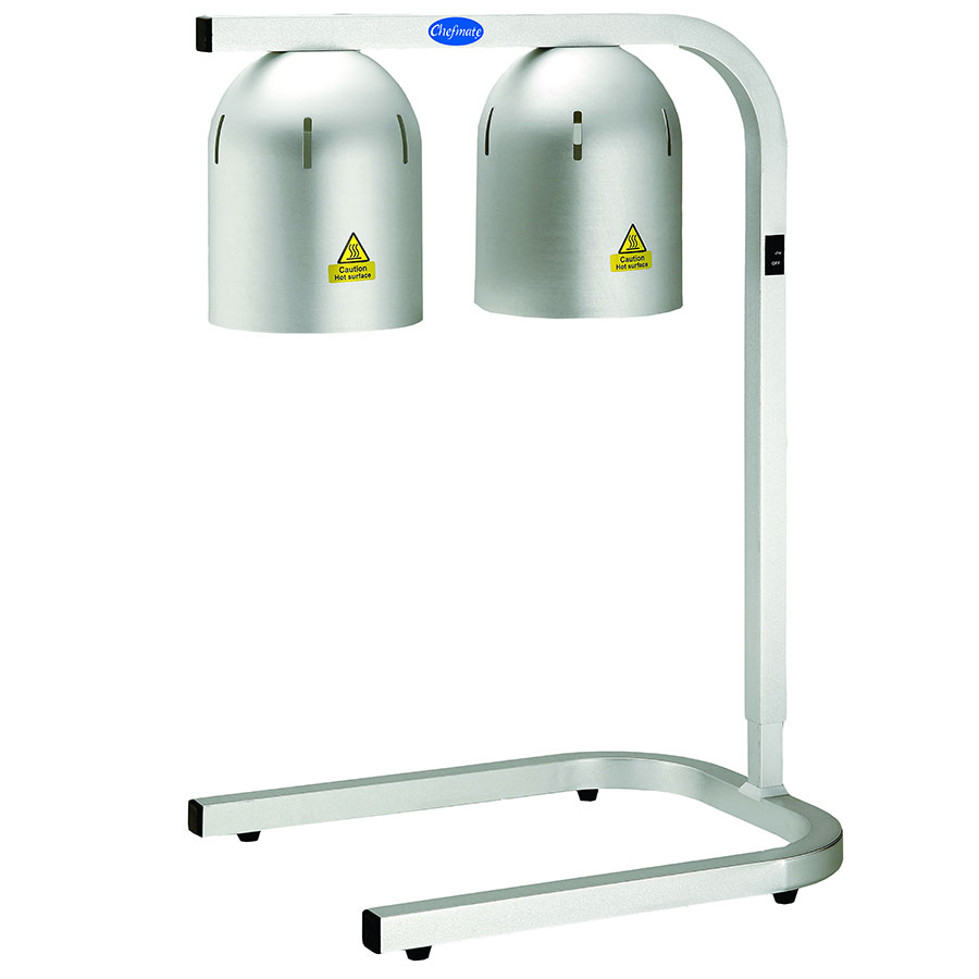 Globe WL2 Freestanding Food Warming Lamp, 2 Bulbs (included), 120 V