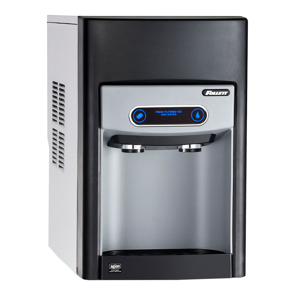 FOLLETT 15CI100A-IW-CF-ST-00 Countertop Nugget Ice Maker/Water Dispenser - 125-lb/24-hr, Internal Filter