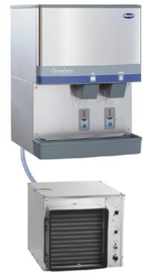 FOLLETT 110CR400A-S 400-lb Air-Cooled Ice & Water Dispenser w/ 90-lb Bin, Lever