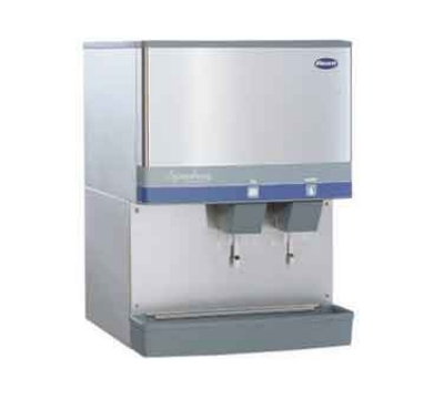 FOLLETT 110CR400W-L 400-lb Water-Cooled Ice & Water Dispenser w/ 90-lb Bin, Lever