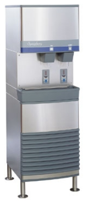 FOLLETT 25FB400A-S Freestanding Ice Water Dispenser w/ 25-lb Bin, Air-Cooled, 40