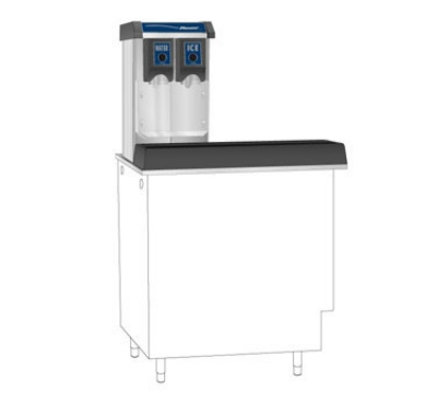 FOLLETT VU155N0RP Ice & Water Dispenser w/ 150-lb Bin, Push Button, Right, 115 V