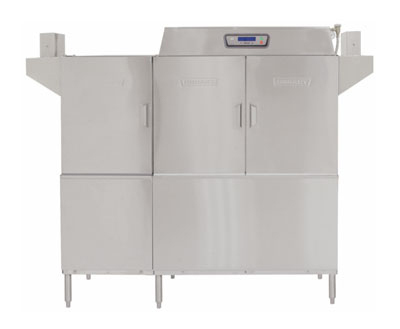 Hobart CLPS66E-16 Left To Right 30-kW Booster Conveyor Dishwasher w/ 1-Tank, 480/3 V