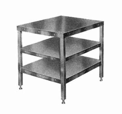 Hobart CUTTER-TABLE4 Table 205026-Model w/ Feet & 2-Shelves For Food Cutters 27x32-
