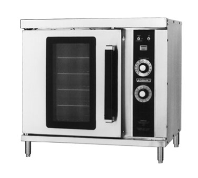 Hobart HGC20-NATURAL Half Size Single Deck Convection Oven w/ 4-in Legs, Stainless, NG