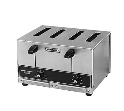 Hobart ET27-4 4-Slice Pop Up Toaster w/ 1-in Wide Slot, 290-Slices/Hr, Stainless
