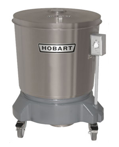 Hobart SDPS-13 20-Gallon Salad Dryer w/ Drain & Stainless Outer Tub, Export