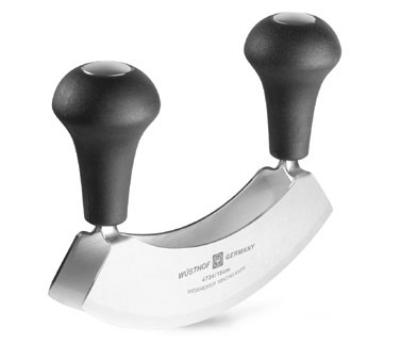 Wusthof 4734 6-in Mincing Knife w/ Double Blade