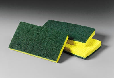 3M 619-74CC Medium Duty Scrub Sponge, 6.1x 3.6x.7""