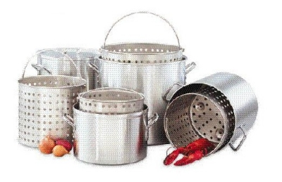Big Johns Grills & Rotisseries 20 QT. POT 20-qt Aluminum Pot Set w/ Pot, Baske