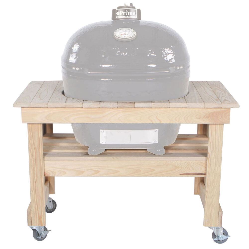 Primo Grills PRM602 Compact Cypress Table For Oval XL, 45 x 25 x 32-in